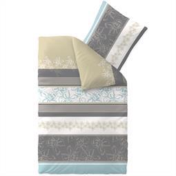 aqua-textil Bettwäsche Garnitur Baumwolle Trend 135x200 Vanesa weiß grau