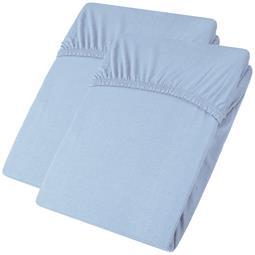 aqua-textil Spannbettlaken Baumwolle Jersey Viana Doppelpack 90x200-100x200 blau