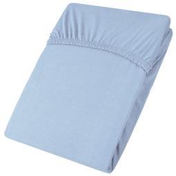 Spannbettlaken Baumwolle Jersey Viana 180x200-200x200 blau