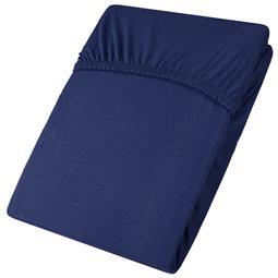 aqua-textil Spannbettlaken Baumwolle Jersey Viana 140x200-160x200 dunkelblau