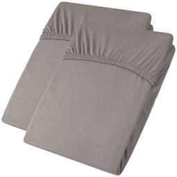 aqua-textil Spannbettlaken Baumwolle Jersey Viana Doppelpack 90x200-100x200 dunkelgrau