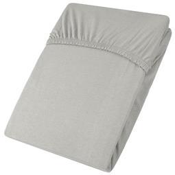 aqua-textil Spannbettlaken Baumwolle Jersey Viana 140x200-160x200 grau