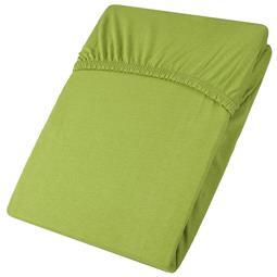 Spannbettlaken Baumwolle Jersey Viana 140x200-160x200 grün