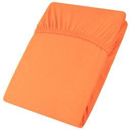 aqua-textil Spannbettlaken Baumwolle Jersey Viana 140x200-160x200 orange