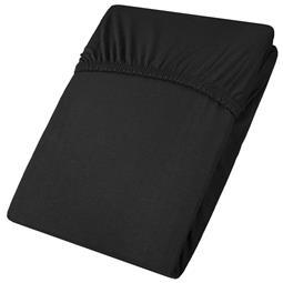 Spannbettlaken Baumwolle Jersey Viana 140x200-160x200 schwarz
