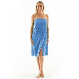 Saunakilt Damen Frottee Wellness 90x150 hellblau