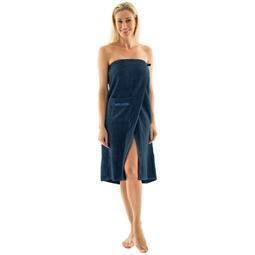 Saunakilt Damen Frottee Wellness 90x150 dunkelblau