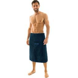 Saunakilt Herren Frottee Wellness 70x160 dunkelblau