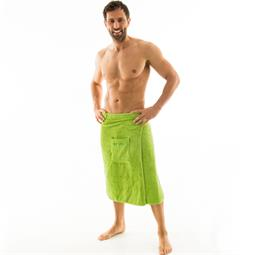 aqua-textil Saunakilt Herren Frottee Klettverschluss Wellness 70x160 cm grün