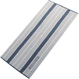 aqua-textil Saunatuch Frottee Streifen Wellness 80x200 grau