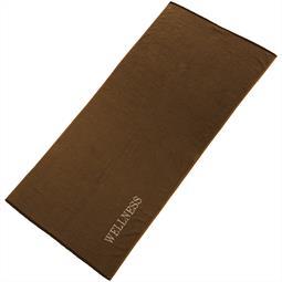 aqua-textil Saunatuch Frottee Uni Wellness 80x200 braun