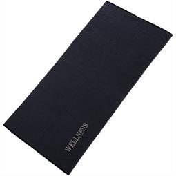 aqua-textil Saunatuch Frottee Uni Wellness 80x200 schwarz