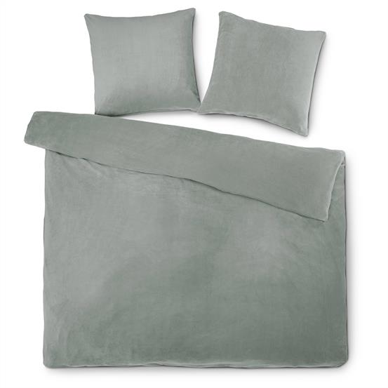 bettw sche coral fleece thermo flausch feelwell 200x220 cm uni silber. Black Bedroom Furniture Sets. Home Design Ideas