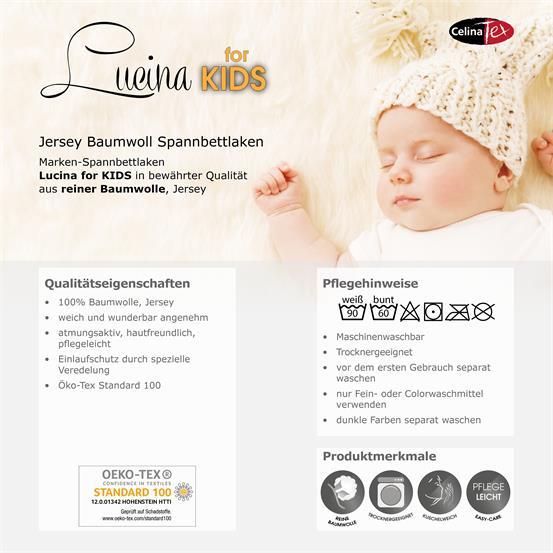 kinder baby spannbettlaken spannbetttuch baumwolle 60x120 70x140 lucina minis ebay. Black Bedroom Furniture Sets. Home Design Ideas