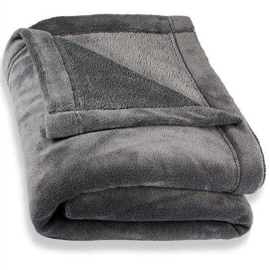 kuscheldecke tagesdecke wohndecke sofa decke microfaser coralfleece montreal ebay. Black Bedroom Furniture Sets. Home Design Ideas