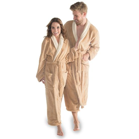 bademantel morgenmantel sauna wellness microfaser schalkragen s xxxl lang nevada ebay. Black Bedroom Furniture Sets. Home Design Ideas