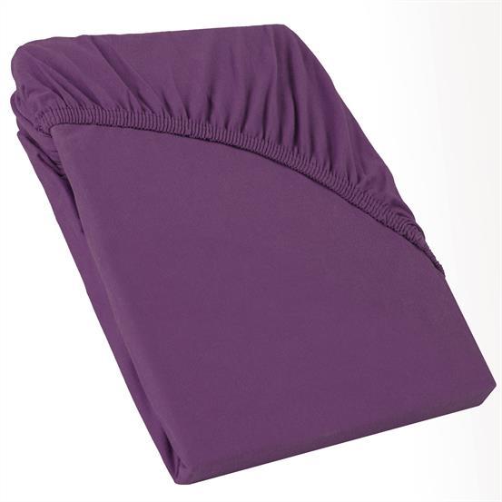perla spannbettlaken topper baumwolle lila 140x200 160x200. Black Bedroom Furniture Sets. Home Design Ideas